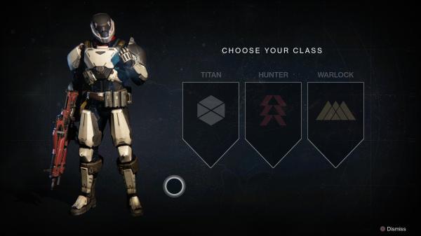 Bei der Charaktererstellung können wir uns zwischen drei Klassen entscheiden: Titan, ...